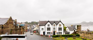 Het Kasteel van Conwy, Wales Stock Foto's