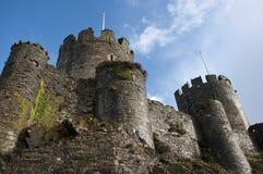 Het Kasteel van Conwy in Wales Stock Foto