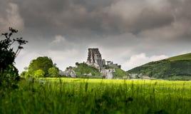 Het kasteel van Corfe Stock Afbeeldingen