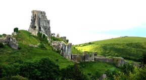 Het Kasteel van Corfe, Dorset stock fotografie