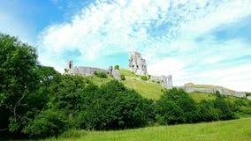 Het kasteel van Corfe dorset Stock Foto