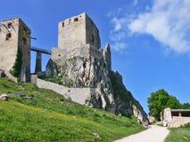 Het kasteel van Csesznek Stock Afbeeldingen
