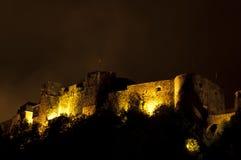 Het kasteel van de bouillon bij nacht Royalty-vrije Stock Foto's