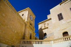 Het kasteel van de Cittadellatoren in Victoria Rabat-stad, Gozo-eiland, Mal royalty-vrije stock fotografie