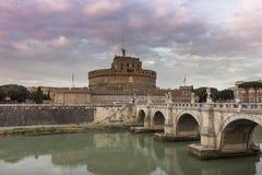 Het Kasteel van de Engel van heilige in Rome, Italië Stock Foto