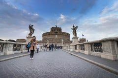 Het Kasteel van de Engel van heilige in Rome, Italië Royalty-vrije Stock Afbeeldingen