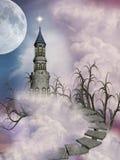 Het kasteel van de fantasie Stock Foto