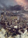 Het kasteel van de fantasiesteen vector illustratie