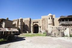 Het kasteel van de filmstudio in Tamgaly-Tas - Kazachstan - Centraal-Azië royalty-vrije stock afbeeldingen
