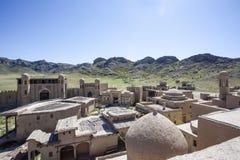 Het kasteel van de filmstudio in Tamgaly-Tas - Kazachstan - Centraal-Azië royalty-vrije stock foto's
