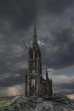 Het kasteel van de geheimzinnigheid stock fotografie