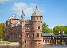 Het kasteel van DE Haar Stock Afbeeldingen