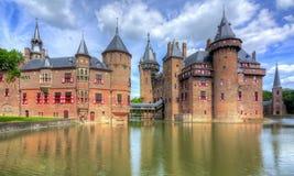 Het kasteel van DE Haar dichtbij Utrecht, Nederland stock foto's