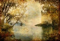 Het kasteel van de herfst Royalty-vrije Stock Foto's