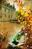 Het kasteel van de herfst Stock Afbeelding