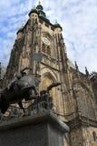 Het kasteel van de koning in Praag Stock Foto's