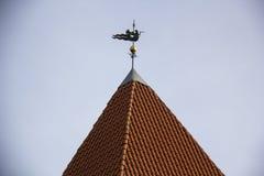 Het Kasteel van de Livoniaorde werd gebouwd in het midden van de 15de eeuw Bauska Letland in de herfst Stock Foto's
