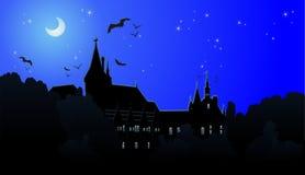Het kasteel van de nacht Stock Afbeeldingen