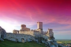 Het kasteel van de ruïne stock foto's