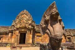 Het kasteel van de zandsteen, phanomrung in Buriram-provincie Royalty-vrije Stock Foto