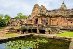 Het kasteel van de zandsteen, phanomrung in Buriram-provincie, Thailand Royalty-vrije Stock Foto