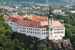 Het kasteel van Decin Stock Foto's