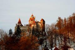 Het Kasteel van Dracula - Schemer Stock Foto