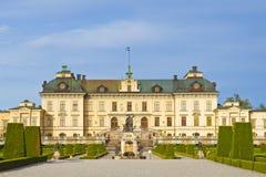 Het kasteel van Drottningholm Stock Foto's