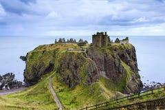 Het kasteel van Dunnottar, Schotland stock afbeeldingen