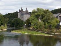 Het kasteel van Durbuy Stock Afbeelding