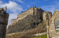 Het Kasteel van Edinburgh in Edinburgh royalty-vrije stock fotografie