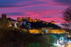 Het Kasteel van Edinburgh, Edinburgh, het UK stock afbeeldingen