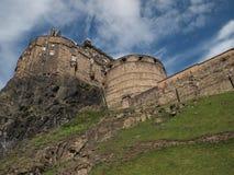 Het kasteel van Edinburgh in Edinburgh Schotland Royalty-vrije Stock Foto's
