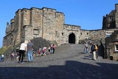Het Kasteel van Edinburgh, Schotland stock foto's