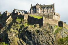 Het Kasteel van Edinburgh in Schotland stock foto's