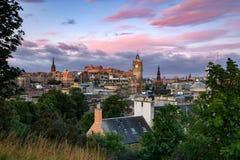 Het Kasteel van Edinburgh, Schotland stock afbeeldingen