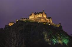 Het Kasteel van Edinburgh in Schotland stock afbeeldingen