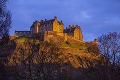 Het Kasteel van Edinburgh in Schotland royalty-vrije stock afbeeldingen