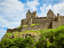 Het Kasteel van Edinburgh, Schotland, het UK royalty-vrije stock afbeelding