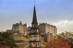 Het kasteel van Edinburgh Schotland, het Verenigd Koninkrijk royalty-vrije stock foto