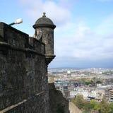 Het kasteel van Edinburgh van het kanon royalty-vrije stock foto