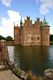 Het kasteel van Egeskov Stock Foto's