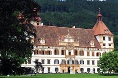Het kasteel van Eggenberg in Graz Stock Foto's