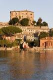 Het kasteel van Farnese in capodimonte - Bolsena Italië royalty-vrije stock afbeeldingen