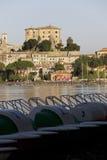 Het kasteel van Farnese in capodimonte - Bolsena Italië stock fotografie