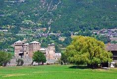 Het kasteel van Fenis - Aosta - Italië Royalty-vrije Stock Afbeelding