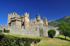 Het kasteel van Fenis, Aosta vallei, Italië Stock Afbeelding
