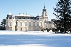 Het kasteel van Festetics in Keszthely, Hongarije Stock Foto
