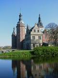 Het kasteel van Frederiksborg Stock Afbeeldingen