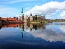 Het Kasteel van Frederiksborg, Denemarken stock afbeeldingen